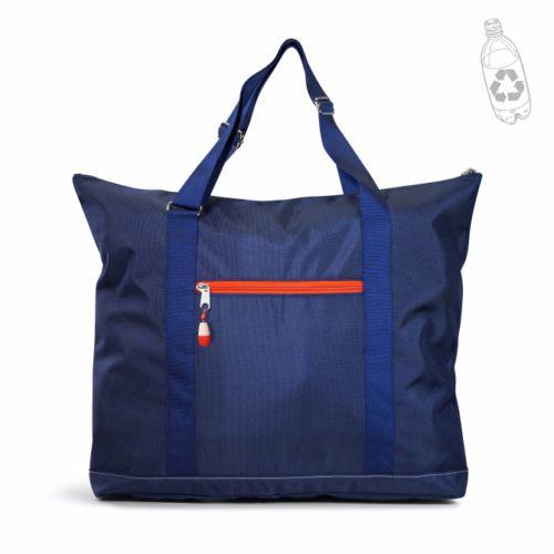 Sac week-end publicitaire écologique Citizenblue bleu - sac de voyage personnalisable