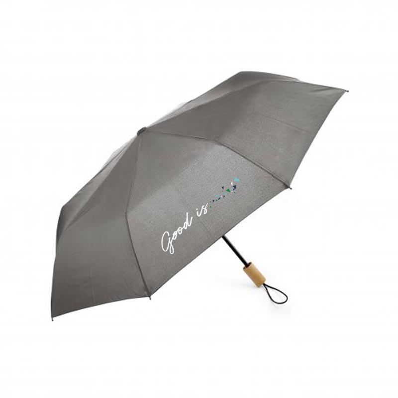 parapluie publicitaire pliable ecorain gris