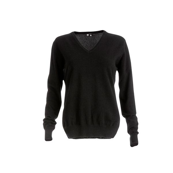 Pull-over personnalisable col V pour femme Milana gris