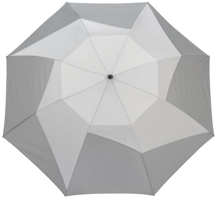 """Parapluie personnalisé à ouverture automatique 2 sections 23"""" Pinwheel gris"""
