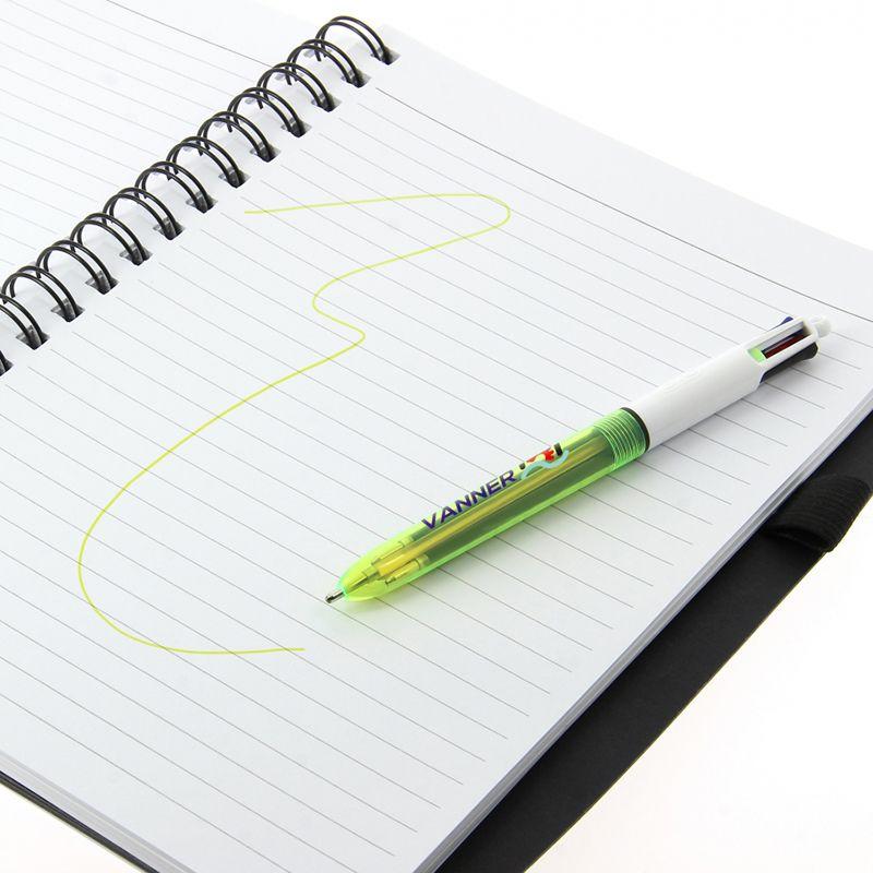 Stylo bille publicitaire Bic® 4 couleurs Fluo - stylo personnalisable