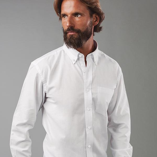 Chemise personnalisée en oxford pour homme Tokyote blanche - chemise publicitaire