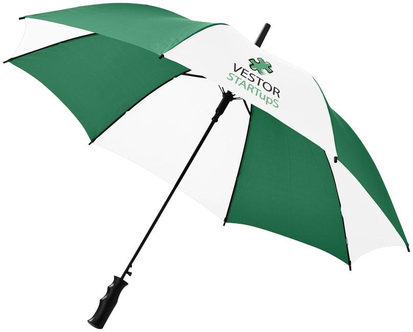 """Parapluie publicitaire automatique 23"""" Barry - blanc/vert"""