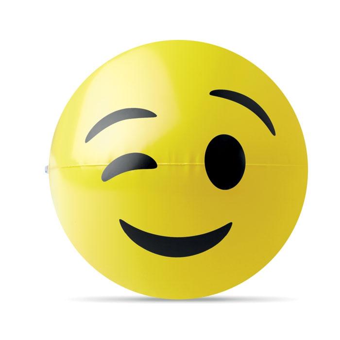 Goodies - Ballon de plage gonflable publicitaire emoji Winky