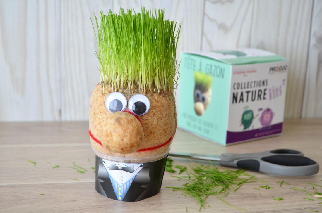cadeau publicitaire végétal - Tête en herbe