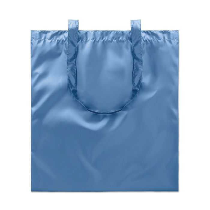 Sac shopping publicitaire laminé New York - sac personnalisé brillant bleu