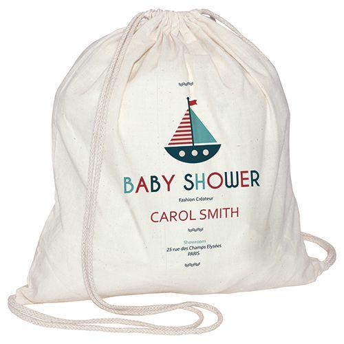Gym bag en coton publicitaire Ficelli - sac personnalisé en coton