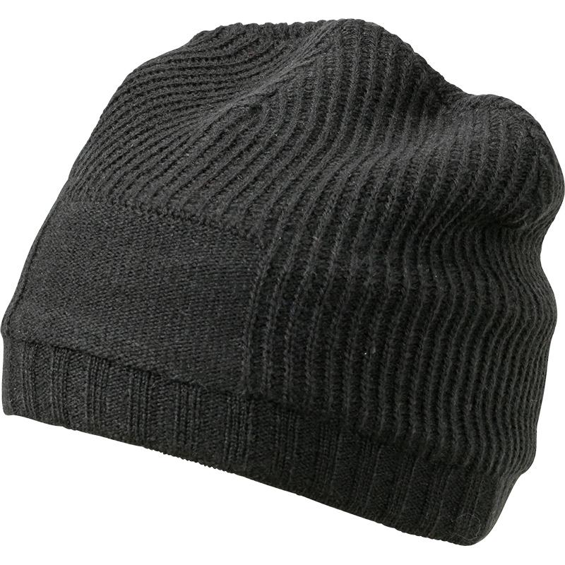 Bonnet publicitaire avec grande zone de marquage, noir.