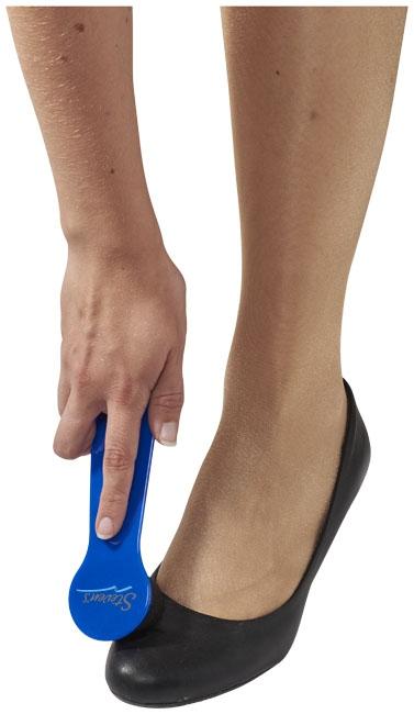 Set chausse-pied publicitaire et éponge de lustrage Rapido bleu