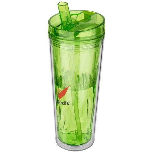 Mug publicitaire Flip and Sip vert - cadeau publicitaire