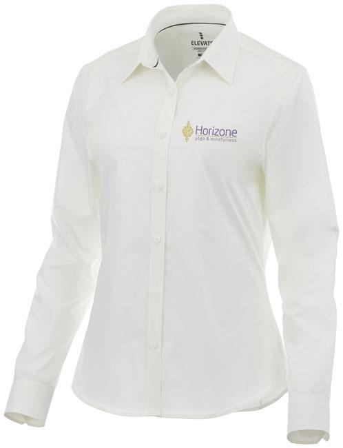 Chemise personnalisée manches longues Hamell pour femme blanche