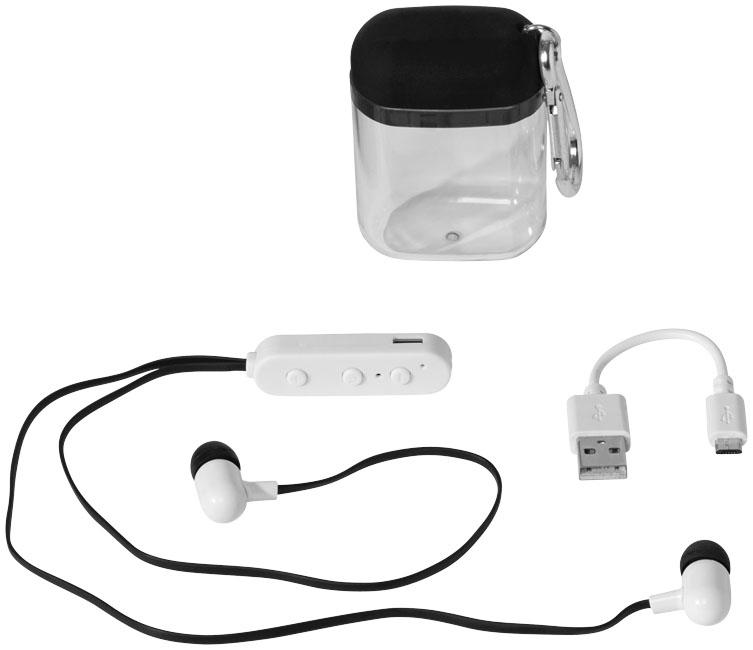 Ecouteurs publicitaires Bluetooth® - Objet promotionnel