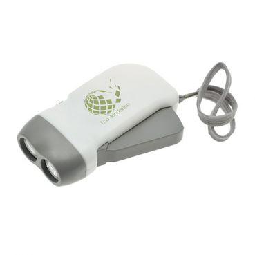 Lampe torche publicitaire dynamo 2 LED Lucent - objet publicitaire