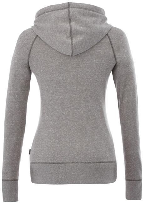 Veste à capuche publicitaire femme Groundie - gris