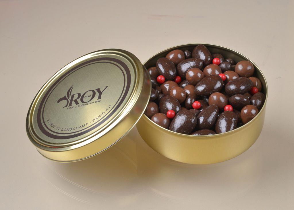 Chocolat publicitaire - Boîte de chocolats Perles gourmandes Roy 320 g
