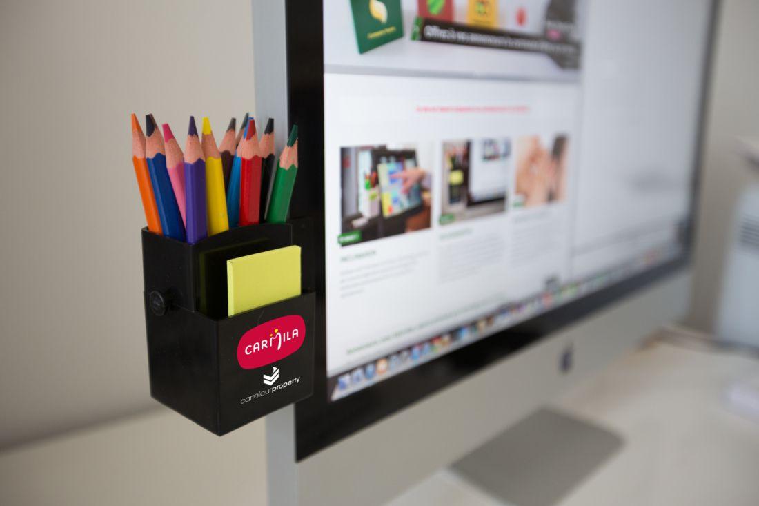 objet publicitaire original - pot à crayons publicitaire pour ordi Stylo-box