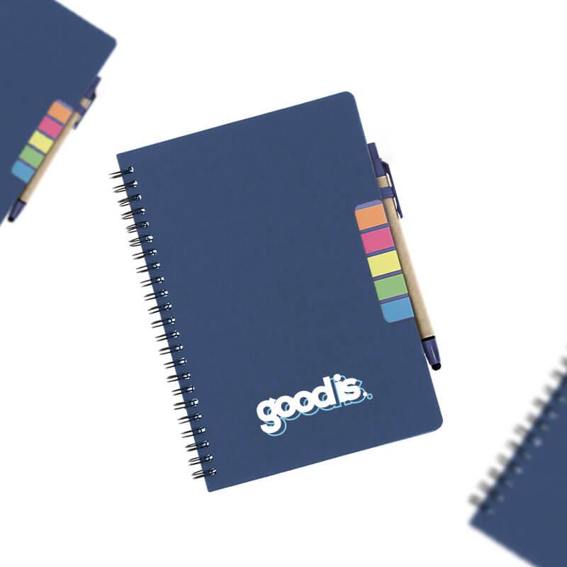 Goodies responsable - Carnet A5 et stylo en carton recyclé Véra