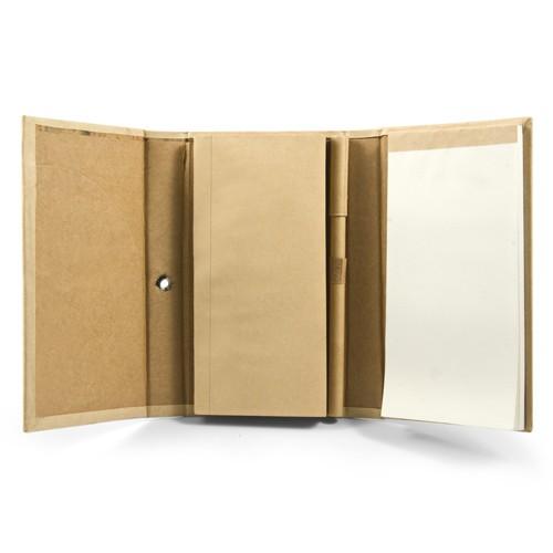 carnet publicitaire écologique - set blocs stylo Exercice