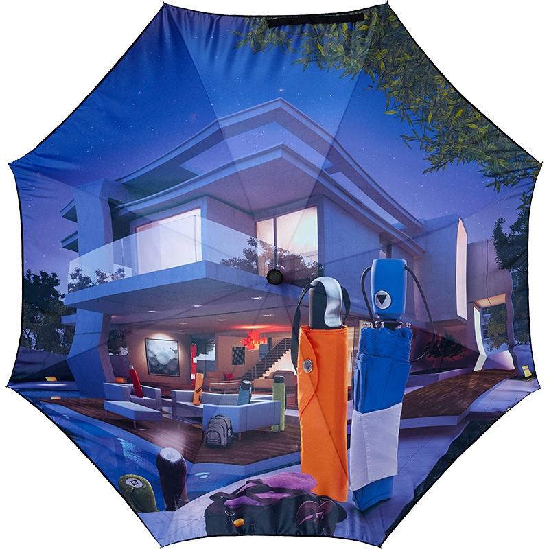 Parapluie publicitaire all over Subblim - parapluie personnalisé