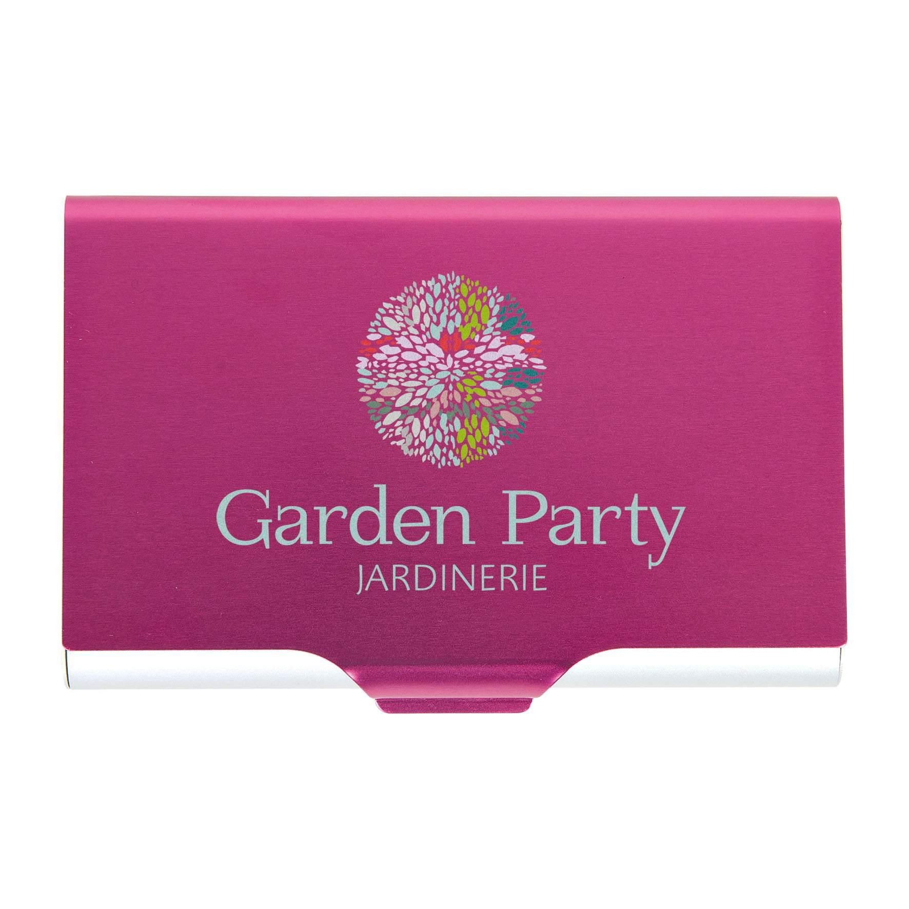 Goodies - Etui publicitaire pour cartes de visite Forty - rose
