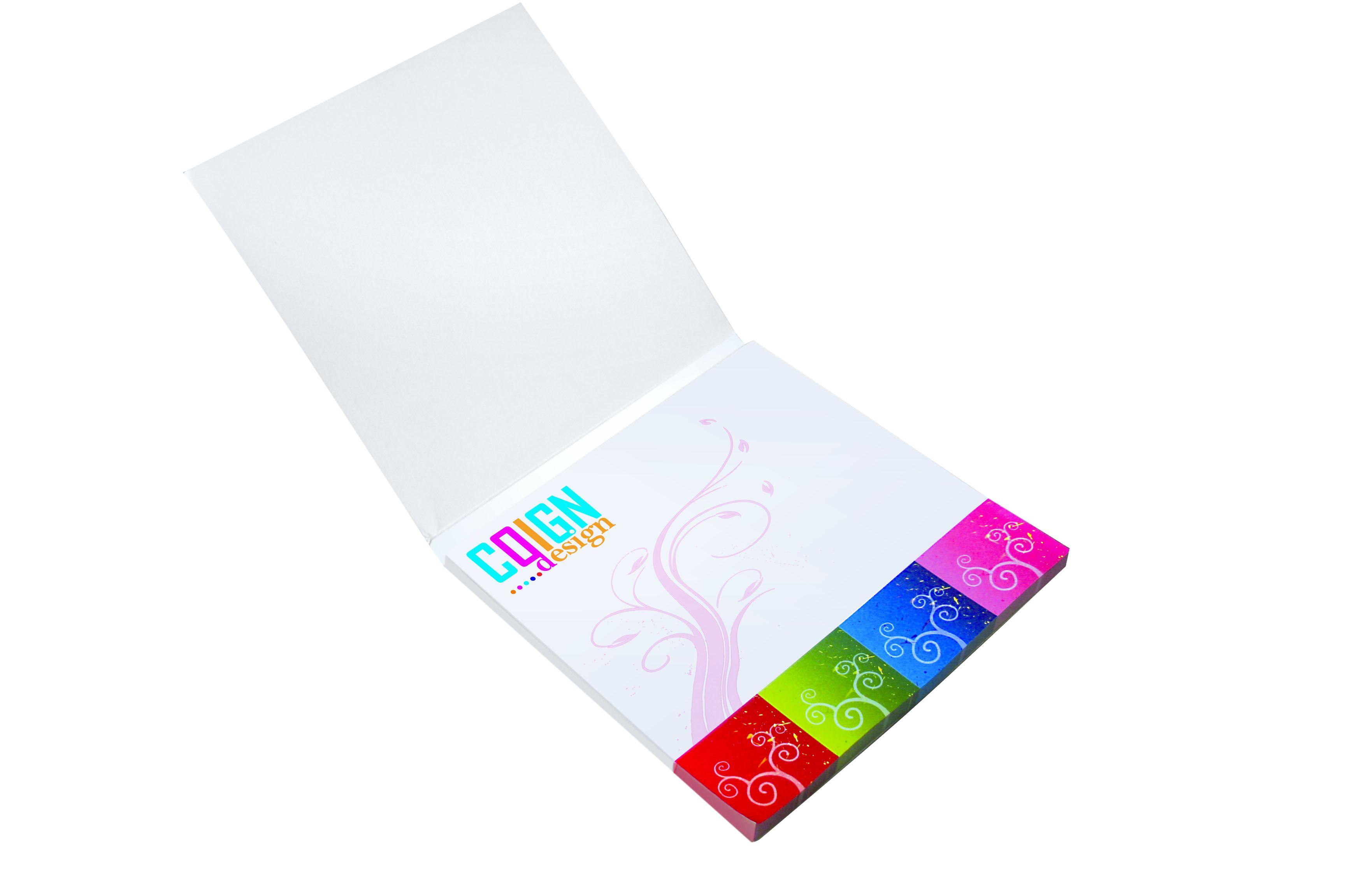 Mini bloc publicitaire  150 x 150 mm - Feuilles adhésives