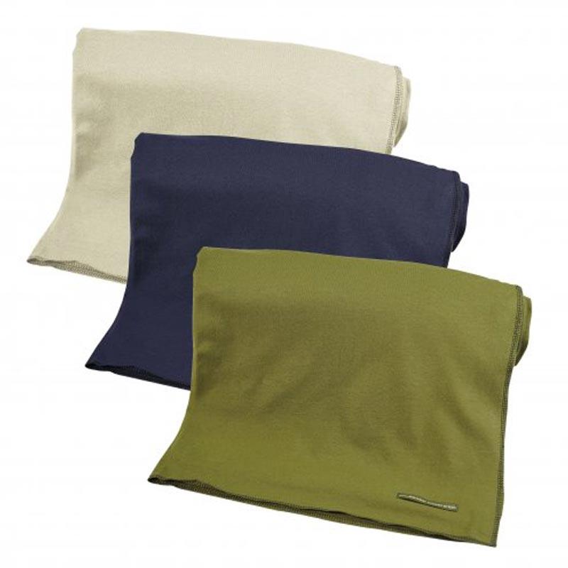 Cadeau publicitaire écologique - Plaid personnalisé en coton bio Carré vert kaki