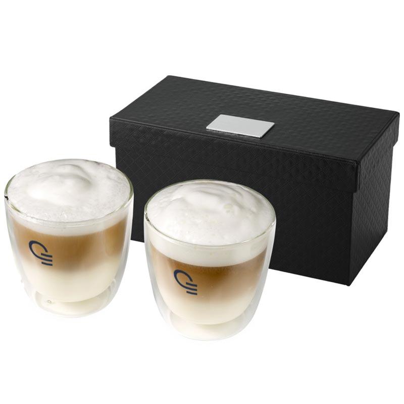Set cappuccino 2 pièces Jeff - cadeau publicitaire
