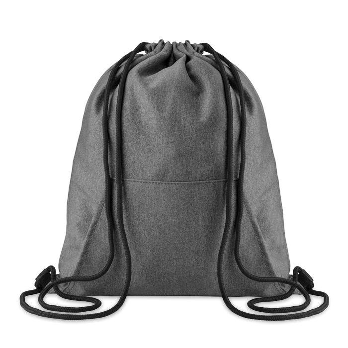 Sac à cordelettes personnalisable polaire Sweat - gymabg publicitaire gris