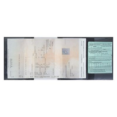 Objet promotionnel - Porte-carte grise 4 volets et 1 transparent