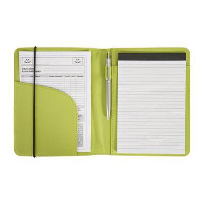 Conférencier A5 publicitaire Microfibre -  vert anis