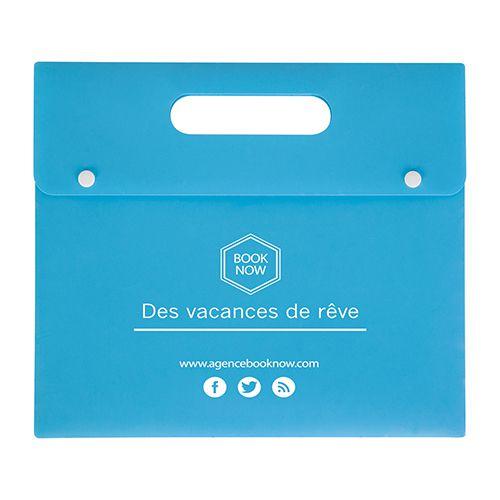 Porte-documents personnalisable bleu - valisette personnalisée Athéna