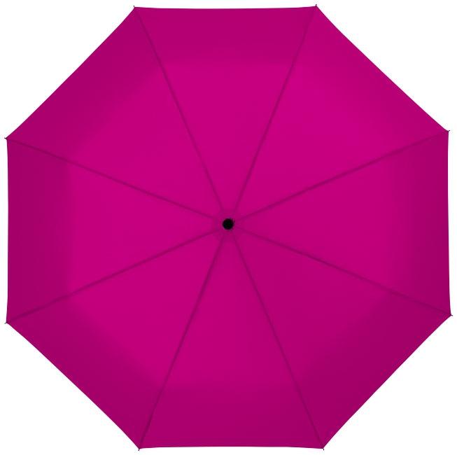 """Parapluie publicitaire 21"""" 3 sections ouverture automatique Wali - parapluie personnalisable - magenta"""