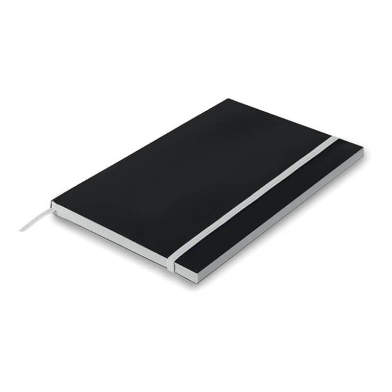 Carnet A5 en papier Black Note pour marquage logo