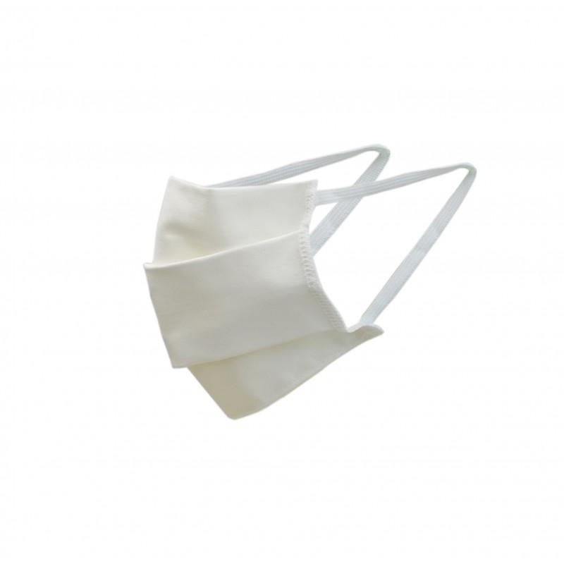 masque de protection publicitaire en coton blanc