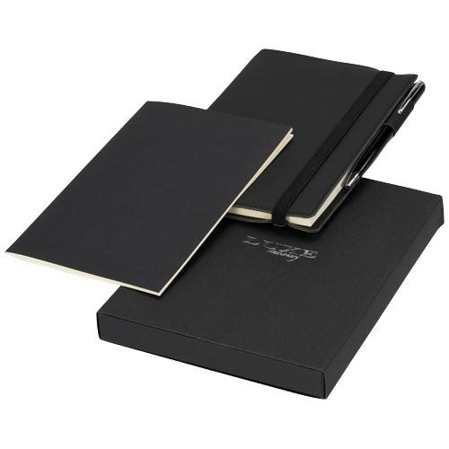cadeau client personnalisé - carnet personnalisé et stylo bille Luxy
