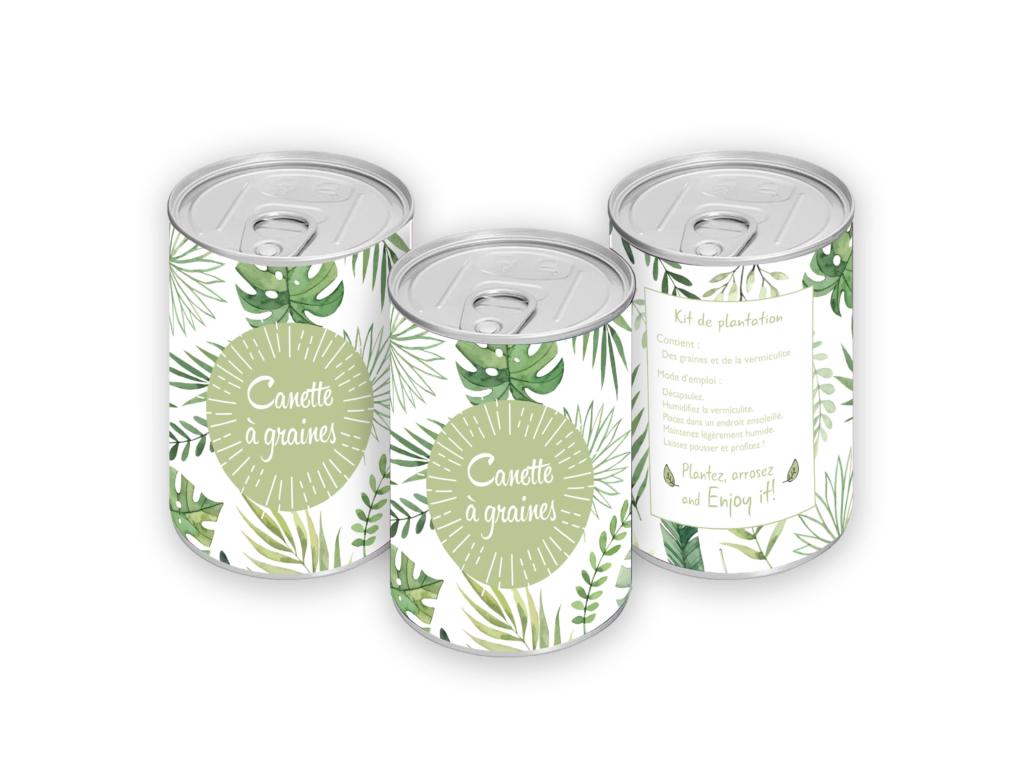 Cadeau publicitaire végétal - Canette à graines publicitaire
