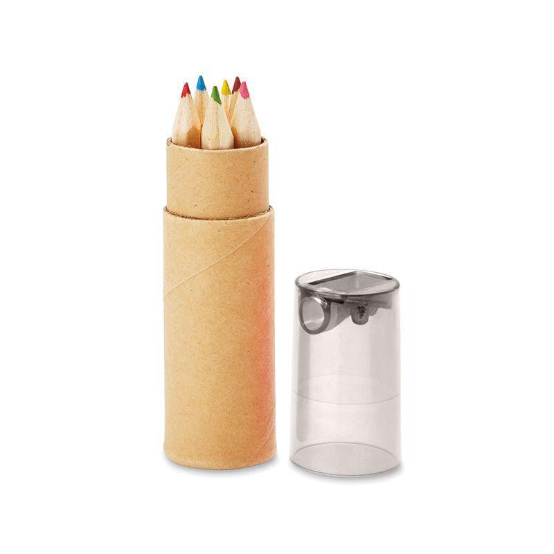 Cadeau promotionnel - Tube de 6 crayons de couleur Petit Lambut