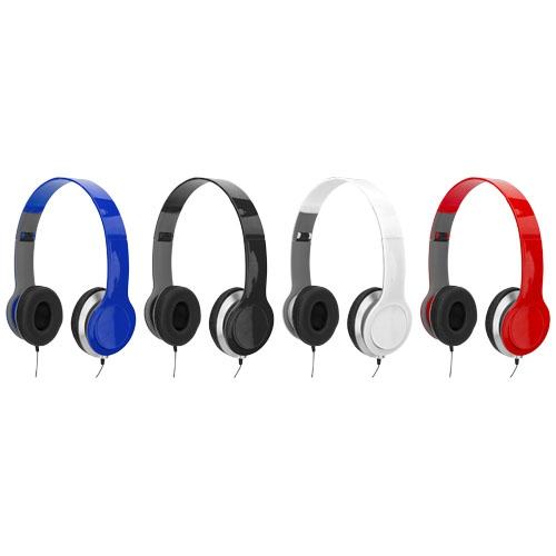Casque audio publicitaire Cheaz bleu - Cadeau d'entreprise