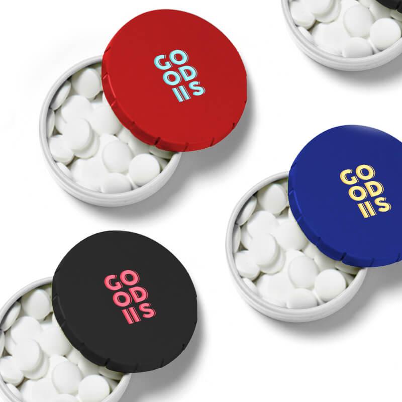 Goodies entreprise - Boîte bonbons  clic clac de pastilles menthe