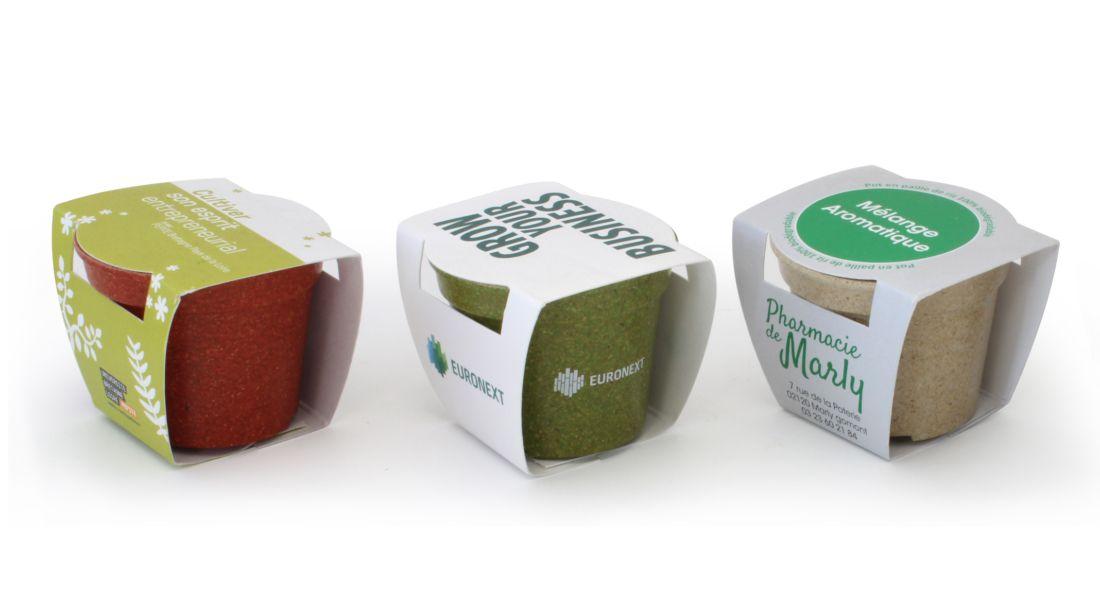 cadeau publicitaire - Kit de jardinage publicitaire Eco color - kit de plantation publicitaire