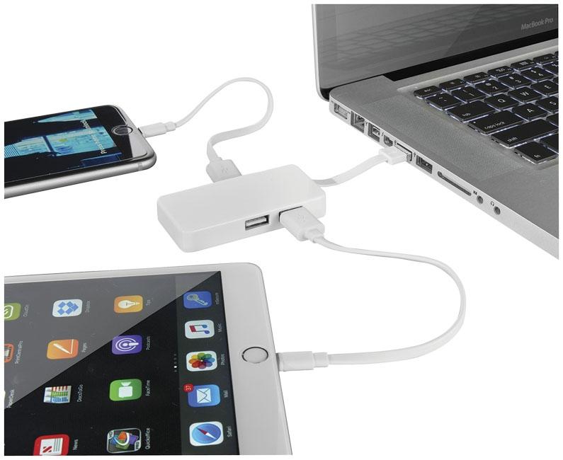 Hub USB avec cable dual - objet publicitaire