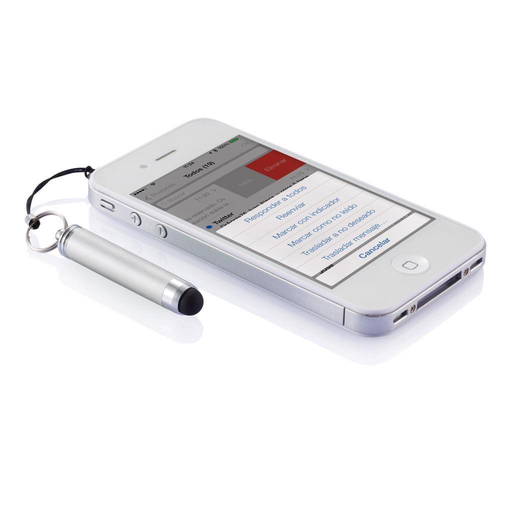 Porte-clés stylo-stylet publicitaire Arios - Touch pen personnalisé