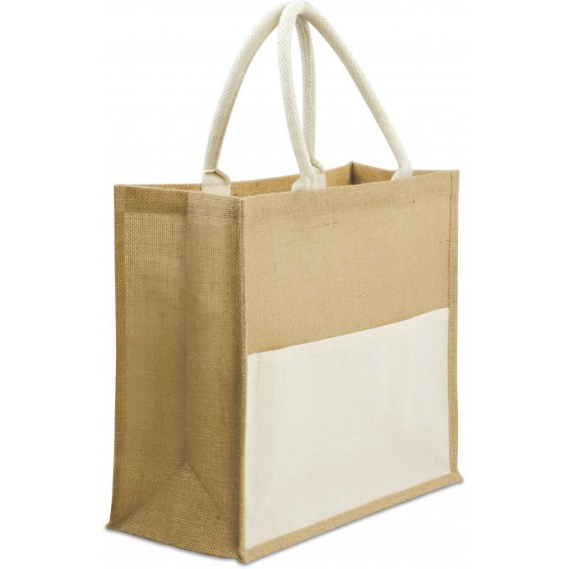 sac shopping personnalisable écologique en jute Lady
