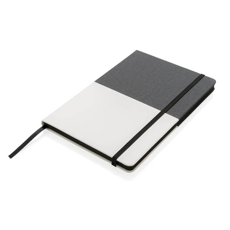 Carnet de notes A5 Deluxe bi-matière - rouge