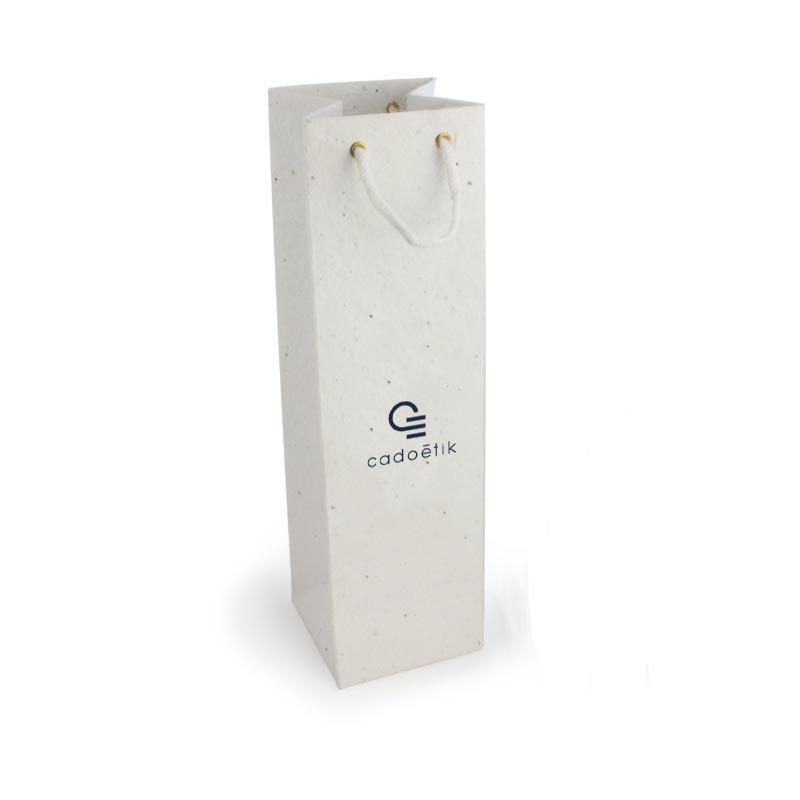 Packaging 100% biodégradable - Sac en papier à graines pour bouteille