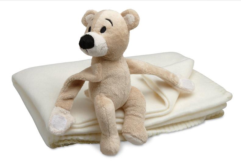 Cadeau publicitaire - couverture polaire publicitaire et ours Manta