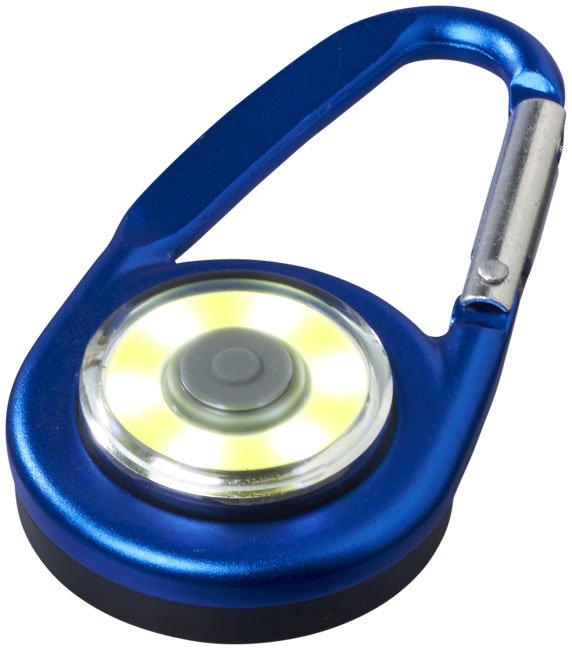 Mousqueton avec lampe publicitaire COB Eye - lampe personnalisable