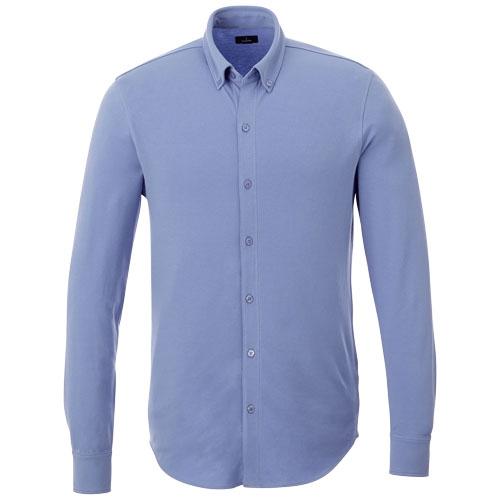 chemise personnalisable coton marine Bigelow - chemise manches longues publicitaire