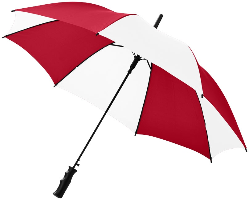 """Parapluie publicitaire automatique 23"""" Barry - blanc/marine"""
