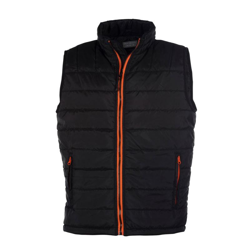 Bodywarmer promotionnel Pen Duick® City men noir/orange - cadeau d'entreprise